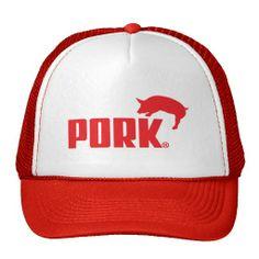 Pork Red Trucker Hat