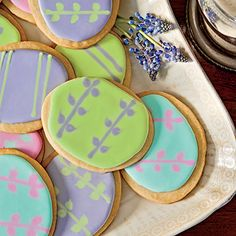 Easter-Egg Shortbread Cookies | Because a large batch of the dough is tricky to work with, we don't recommend doubling this recipe.