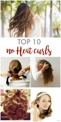 No heat curl tutoria