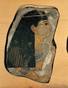 Theben+-+Frauenkopf+/+ägyptische+Wandmalerei