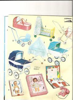 Tous présents pour le Noel 1962 de la Redoute ..!!! Landau Vintage, Vintage Pram, Vintage Dolls, Vintage Ads, Doll Toys, Barbie Dolls, Creepy Vintage, Dolls Prams, Nostalgia