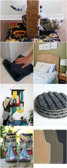 20 Brilliant Carpet Repurposing Ideas That Will Astound You via @vanessacrafting