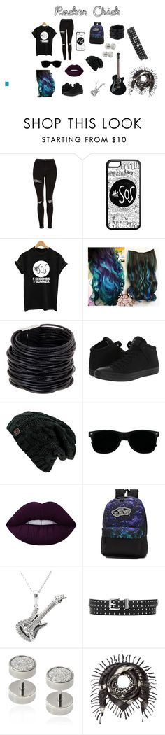 """""""Rocker (Female)"""" by juliet1224 on Polyvore featuring Topshop, Saachi, Converse, Lime Crime, Vans, Misbehave and Barbara Bui"""