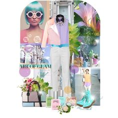 Pastels Gone Edgy by pattykake on Polyvore