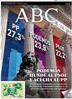 Diario ABC del 5 Febrero 2015 Recordar que puede visualizar las noticias en vídeo desde http://www.youtube.com/vendopor