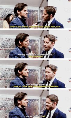 Colin O'Donoghue and Sean Maguire at Once Upon a Time 100th Episode Red Carpet! 20th February 2016.