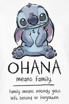 ohana quote ~ ohana tattoo _ ohana _ ohana tattoo ideas _ ohana means family _ ohana bread pudding recipe _ ohana noodles recipe _ ohana tattoo with flower _ ohana quote Lilo Stitch, Lilo And Stitch Quotes, Lelo And Stitch, Cute Stitch, Disney Stitch, Cartoon Wallpaper Iphone, Disney Phone Wallpaper, Cute Cartoon Wallpapers, Ohana Tattoo