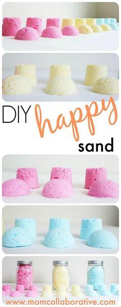 "Gorgeous DIY ""Happy Sand!"" A fantastic ad colorful sensory activity!"