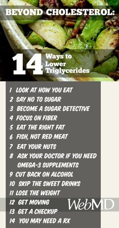 14 Ways to Lower Triglycerides - For Mark!!!