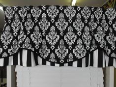 Window Treatment valance lined corded  2 layers by LaTeDaWindows, $59.00