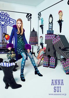Anna Sui - Anna Sui Fall 2016 Campaign #willowhand The Advertising story came from Anna Sui brand's one of the inspiration Robert Fraser, and his Office from the season concept.