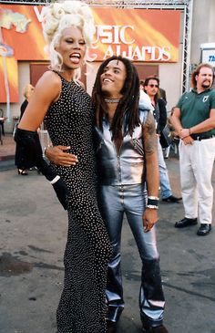 RuPaul and Lenny Kravitz
