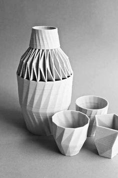 Stratigraphic Porcelain. porcelana en impresion 3d