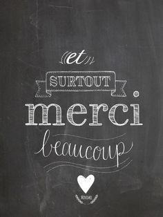 "Image of Carte ""Merci"" Appreciation Quotes, Teacher Appreciation, Attitude Of Gratitude, Positive Attitude, Great Quotes, Me Quotes, Typo Logo, French Quotes, Messages"