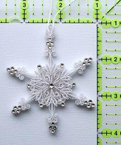 "Stunning Sparkler - ""Laced in Air"" Stellar Dendrite Snowflake – Quilled…"