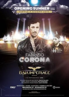 L'estate si avvicina e tornano le serate della Baia Imperiale. Per la grande apertura della discoteca Fabrizio Corona.
