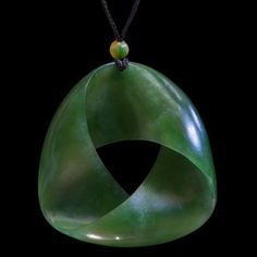 Jade Mobius Ribbon Pendant by Omni Caeon Zen Rock, Rock Art, Pendant Jewelry, Jewelry Art, Jewellery, Jade, Maori People, Bone Carving, Wooden Jewelry