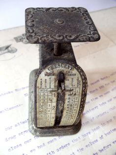 Antique CRESCENT Letter Scale