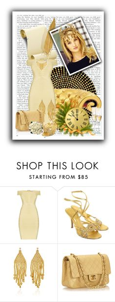 """""""dia de gala #2"""" by marii-96-1 ❤ liked on Polyvore featuring Hervé Léger, Sergio Rossi, Magdalena Frackowiak, Chanel, BERRICLE, Ultimate and Laurel Wreath Collection"""