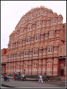 Jaipur, Inida.  Hawa Mahal was the first place we visited in India and it's a great introduction to the country!  So much history and so beautiful.