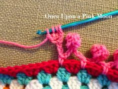 Crochet your own Pom Pom edge!     //      Match the Pom Poms exactly to your project!     //     Once Upon A Pink Moon: Pom Pom Edge