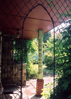 One unique feature of the garden is its synthesis of high art design and recycled architectural fragments. This column and Gothic screen, salvaged from demolished residences in Lynchburg, adorn Anne Spencer's garden study. (Photo: Reuben M. Norton Anthology, American Poetry, Harlem Renaissance, High Art, Wabi Sabi, French Country, Tiny House, Minimalism, Pergola