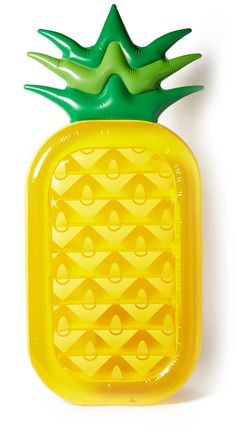 SunnyLife Inflatable Pineapple Raft, Perfect for Summer.