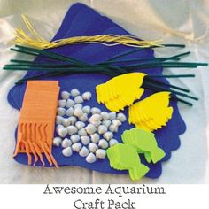 Toys & Games / Awesome Aquarium Pre-School Craft Kit Pack (Enough for 10 Kids) on Sale only $3.00 with Free Shipping.