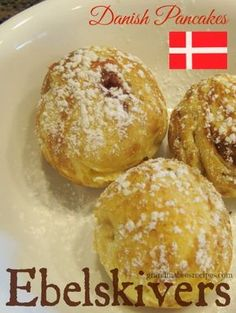 Danish Ebelskivers - filled with strawberry jam!