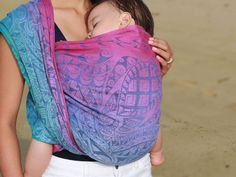 Katican showcases a vibrant underwater scene. Woven on a colourful warp, reminiscent of the sunset on Calicoan island, with the deep blue weft reflecting t Filipino Tribal Tattoos, Half Filipino, Baby Wraps, How To Raise Money, Vera Bradley Backpack, Baby Wearing, Deep Blue, Big Kids, Celebrities