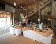 The Barn at Evergreen Wedding Moose Head Snack Bar