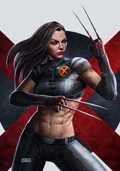 """spassundspiele: """"X-23 (Laura Kinney) - X-Men Comics – fan art by Sadece Kaan """""""