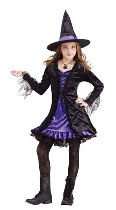 Lace Witch Girl's Costume
