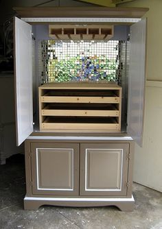 Turning an old Armoire into a Barmoire