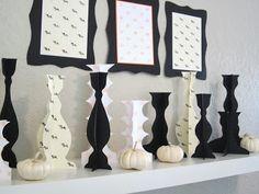 Paper Halloween Display!  Candlesticks