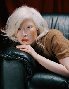 Connie Chiu was the world's first albinistic fashion model.