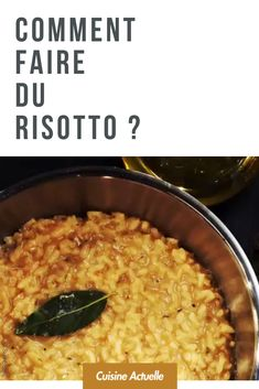 Comment faire du risotto ? Risotto, Sauce Tartare, Macaroni And Cheese, Grains, Ethnic Recipes, Diners, Ayurveda, Kitchenaid, Chocolates