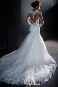 Long Sleeve Mermaid Bridal Gown Wedding Dress Custom Size 2 4 6 8 10 12 14 16 18   Ropa, calzado y accesorios, Ropa de boda y formal, Vestidos de novia   eBay!