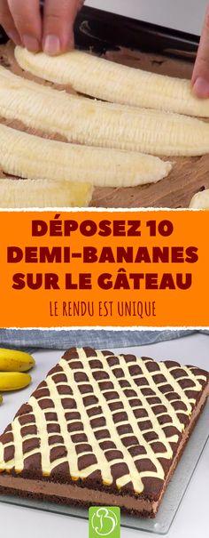 Voici une recette de gâteau qui associe la banane et le chocolat pour préparer un dessert succulent. #recettes #bananes #desserts #gourmand #choco #cuisiner #astuce #cuisine #anniversaire