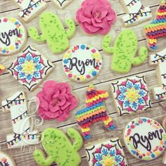 """458 Likes, 20 Comments - Lydia Carter (@lc_sweets) on Instagram: """"Let's fiesta! #lcsweets #customcookies #decaturtx #decoratedcookies #cookies #cookiegram #fiesta…"""""""