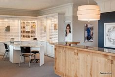 Optometry Office Interior Design By Tawna Allred. Wood Front Reception Desk  In Optical.