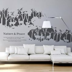 Deer Forest Wall Decals - WallDecal