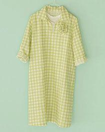 pindot/ホームクチュール/ワンピースそのまま着ても、重ねて着ても Japanese Sewing Patterns, Merchant And Mills, Short Sleeve Dresses, Dresses With Sleeves, Polka Dot Top, Couture, Shopping, Tops, Women