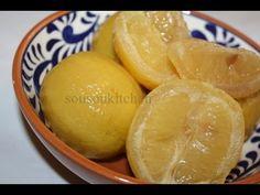 Comment préparer le citron confit salé حامض مرقد Salted preserved lemon ...