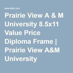Prairie View A & M University 8.5x11 Value Price Diploma Frame   Prairie View A&M University