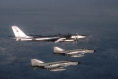 The Phantom and the Bear: Two F-4Es intercept a Soviet Tu-95D [2123x1425] - Imgur