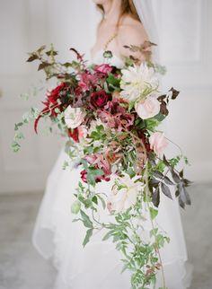 cascading floral bou
