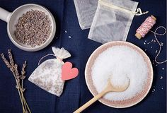 DIY Bathtub Teabags... sent with roses, lavender, chamomile tea or spices like cinnamon, cloves, and rosemary, or include some soap shavings.
