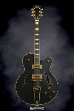 Gretsch G5191 Tim Armstrong Signature - Black | Sweetwater.com | Hollowbody Electric Guitar with Maple Top, Body, and sides; Maple Neck, Rosewood Fingerboard, and 2 Humbucking Pickups - Black