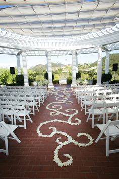 The gorgeous ceremony space at Sherwood Country Club Wedding coordination by Bella Vita Events.